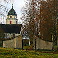 Gate to church in Rattvik