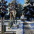 Train crossing in Rattvik