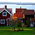 Typical houses in Lake Siljan