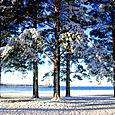 Snow on Lake Siljan