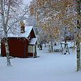 Snowy day in Rattvik