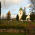 Cemetery and church in Rattvik