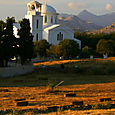 Church and hay in Naxos