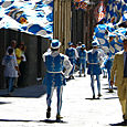 A parade in Siena
