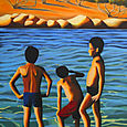 Three Boys on Beach