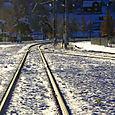 Train tracks in Rattvik