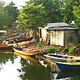 Boats on Negril River