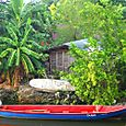 Boat and Hut on Negril River